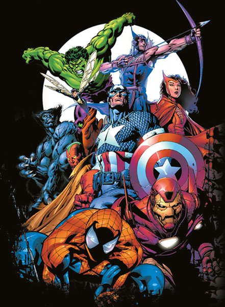 Image: Marvel Assembly Black T-Shirt  (L) -