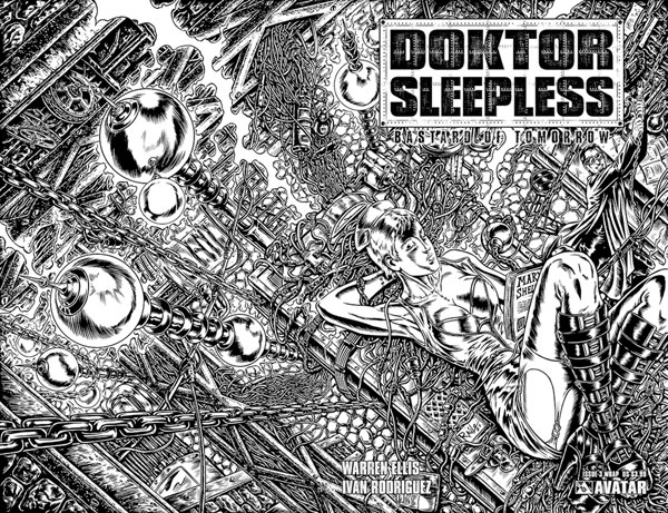 Image: Doktor Sleepless #3 (wraparound cover) - Avatar Press Inc