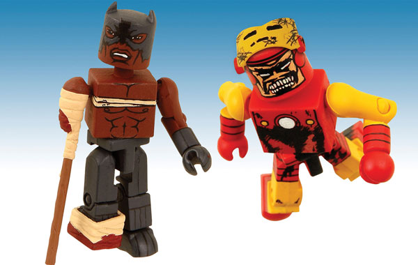 Image: Marvel Minimates: Zombies Iron Man & Black Panther PX 2-Pack  -