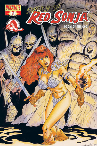 Image: Sword of Red Sonja: Doom of the Gods #1 (Aaron Lopresti Cover) - D. E./Dynamite Entertainment