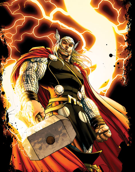 Image: Marvel: 'New Thor' by Turner PX Black T-Shirt  (XXL) -