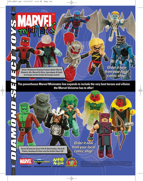 Image: Marvel Minimates Series 20 2-Pack Set  (3) -