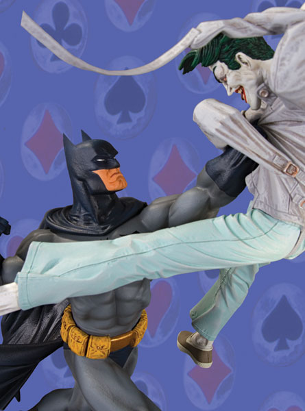 Image: Batman vs. the Joker Statue  - DC Comics