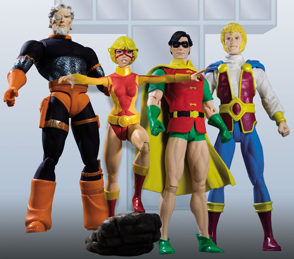 Image: New Teen Titans Series 2 Action Figure Set  (4) -