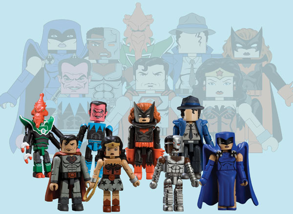 Image: DC Minimates Wave Eight Set  (4 2-packs) -