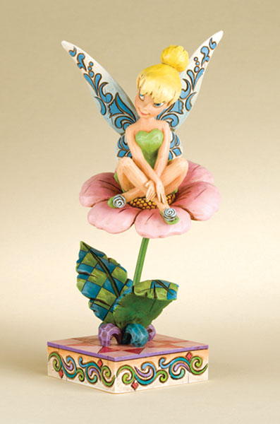 Image: Disney Traditions Figurine: 'Sitting Pretty'  (Tinker Bell on Flower) -