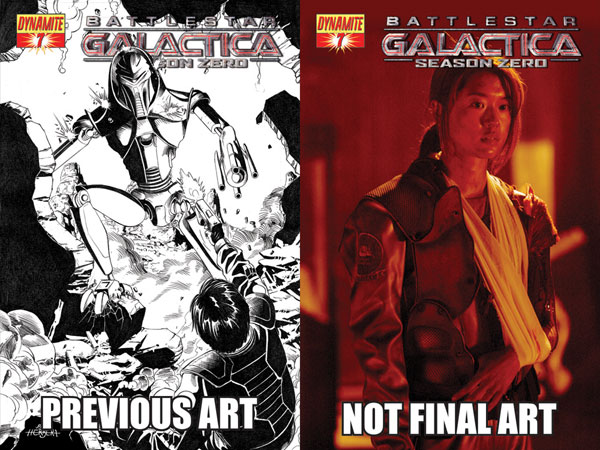 Image: Battlestar Galactica: Season Zero #7 (Art Cover) - D. E./Dynamite Entertainment