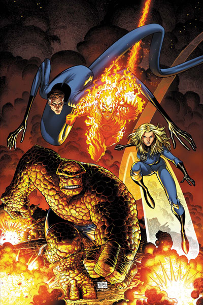 Image: Fantastic Four by Art Adams Poster  - Marvel Comics