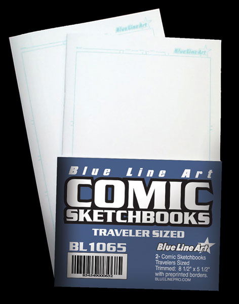 Image: Blue Line Comic Sketchbook - Traveler Sized  -