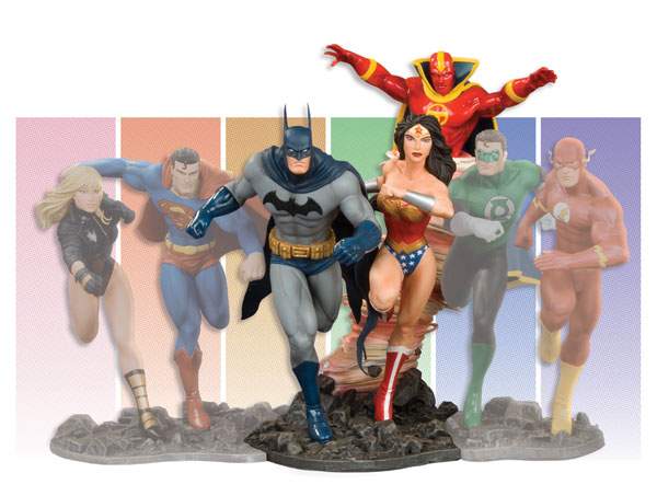 Image: Justice League of America Build-A-Scene Statue Prt 1: Batman & Wonder Woman  -