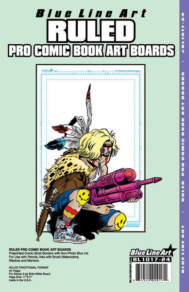 Image: Blue Line Pro Comic Book Ruled Art Boards 24 Pack  -