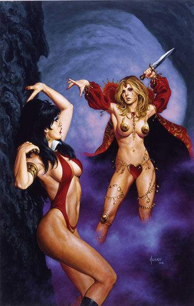 Image: Vengeance of Vampirella Vol. 01: Return of the Blood Red Queen SC  - Anarchy Studios/Harris Comics