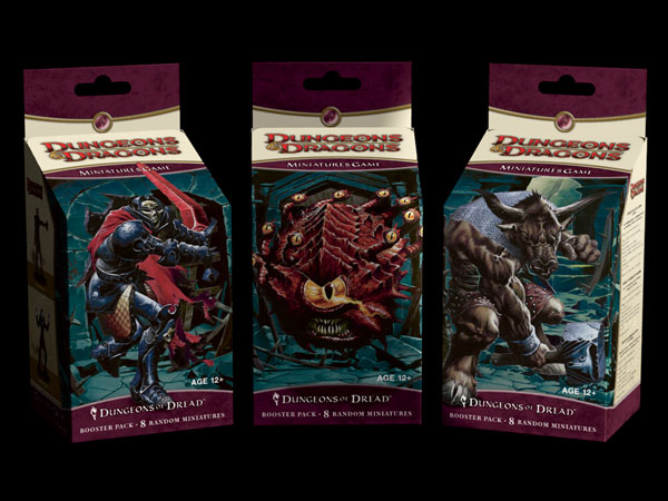 Image: Dungeons & Dragons Minatures Booster Pack: Dungeons of Dread  - Wizards of the Coast
