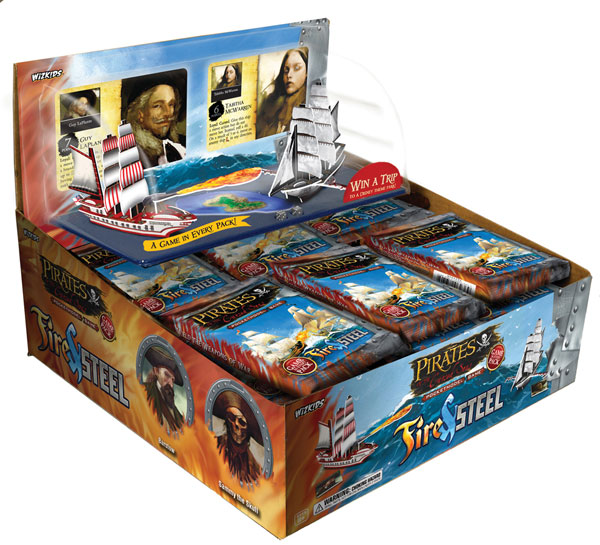 Image: Pirates of the Cursed Seas Fire & Steel 36-Count PDQ Display  - Wizkids LLC