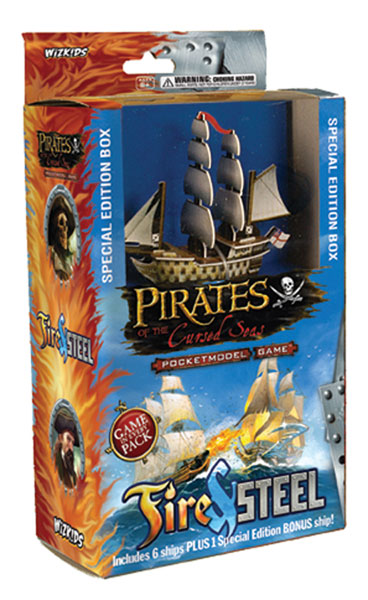 Image: Pirates of the Cursed Seas Fire & Steel Value Box  - Wizkids LLC