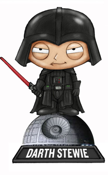 Image: Family Guy Blue Harvest Wackly Wobbler Bobble-Head: Darth Stewie  -