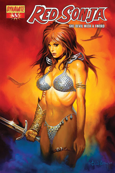Image: Red Sonja #33 (Ken Kelly cover) - D. E./Dynamite Entertainment