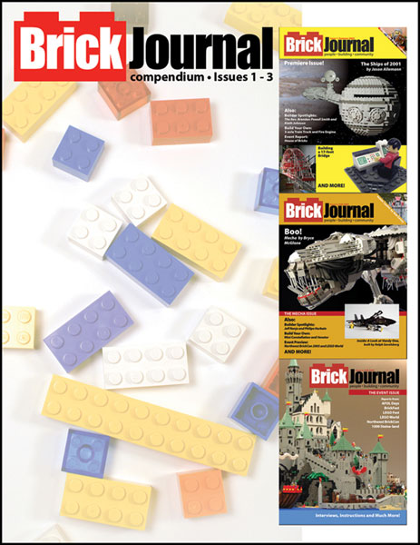Image: Brickjournal Compendium Vol. 01: Issues 1-3 SC  - Twomorrows Publishing