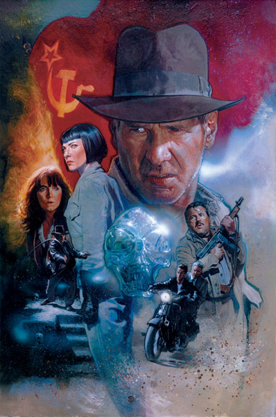 Image: Indiana Jones & Kingdom of the Crystal Skull #1 (Fleming cover) - Dark Horse