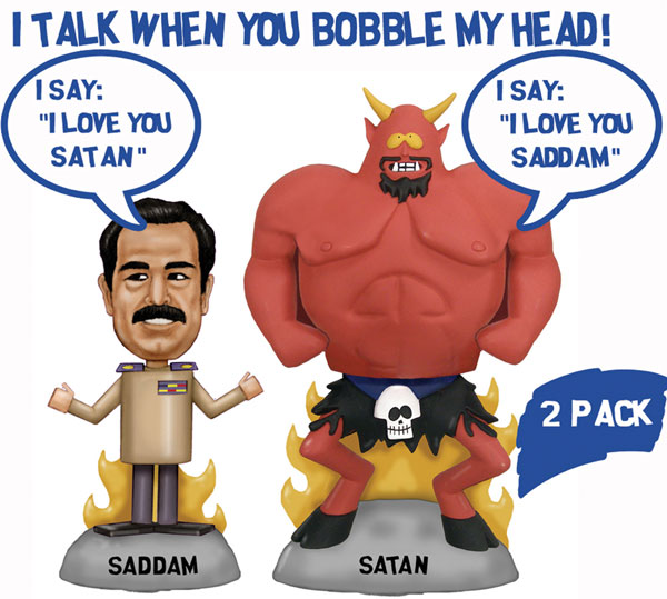 Image: South Park Wacky Wobbler Talking Bobble-Heads: Satan & Saddam  -