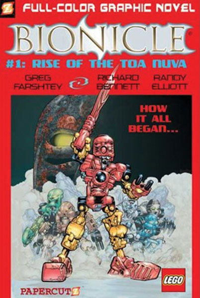 Image: Bionicle Graphic Novel Vol. 01: Rise of the Toa Nuva SC  - Papercutz