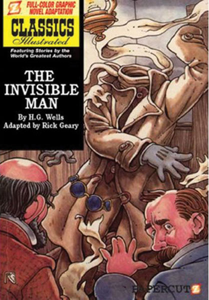 Image: Classics Illustrated Graphic Novel #2: The Invisible Man HC  - Papercutz