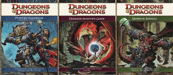 Image: Dungeons & Dragons 4th Edition Core Rulebook Collection  - Wizards of the Coast