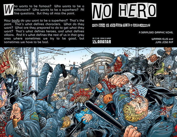 Image: No Hero #0 (Wraparound Cover)  - Avatar Press Inc