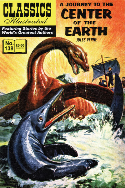 Image: Classics Illustrated: Journey to the Center of the Earth #138 - Classics Illustrated/Jrs