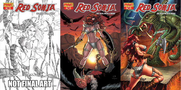 Image: Red Sonja #36 (Rubi Cover) - D. E./Dynamite Entertainment
