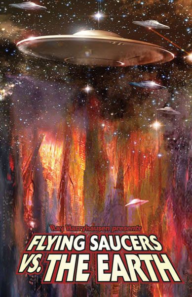 Image: Flying Saucers vs. the Earth SC  - Bluewater Productions