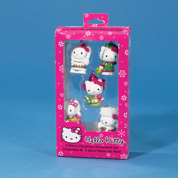 Image: Hello Kitty 1.75-Inch Resin Mini Ornament 5-Piece Set  -