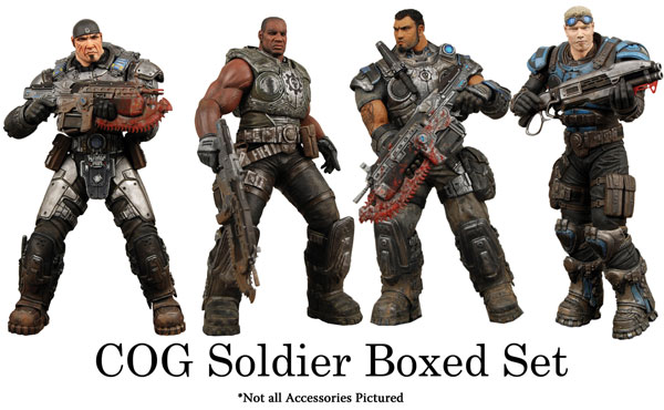Image: Gears of War Series 2 Action Figure Boxed Set  -