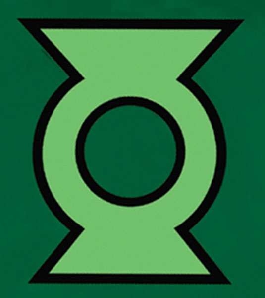 Image: Justice League Unlimited T-Shirt: Green Lantern Symbol  (L) -