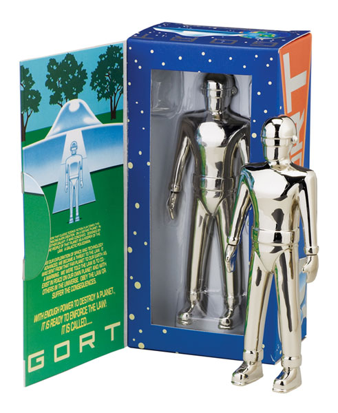 Image: Gort Die-Cast Nickle Plated Figure  -