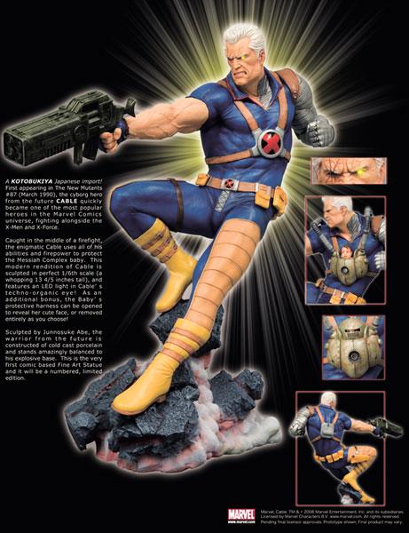 Image marvel comics presents the kotobukiya collection cable fine