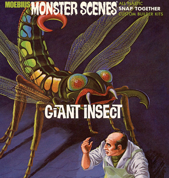 Image: Moebius Monster Scenes Snap Together Model Kit: Giant Insect  -