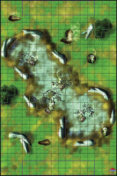 Image: Heroclix Vinyl Mat: Spaceship Crash Site  - Gale Force 9