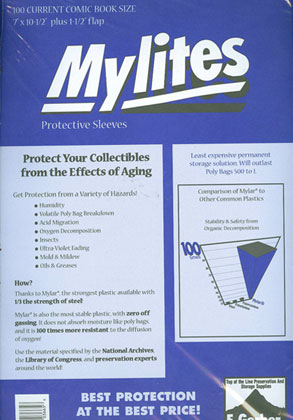 Image: Mylites Sleeves: Current Size  (7x10-3/4) (100) -