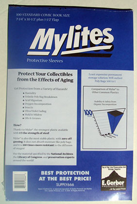Image: Mylites Sleeves: Standard Size  (7-1/4x10-3/4) (100) -