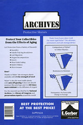 Image: Archives Sleeves: Silver / Golden Age Size  (7-3/4x10-1/2) (50) -