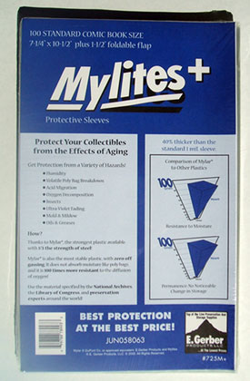 Image: Mylites+ Sleeves: Standard Size  (7-1/4x10-3/4) (100) -