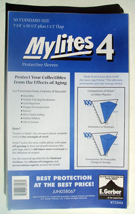 Image: Mylites4 Sleeves: Standard Size  (50) (JUN058067) -
