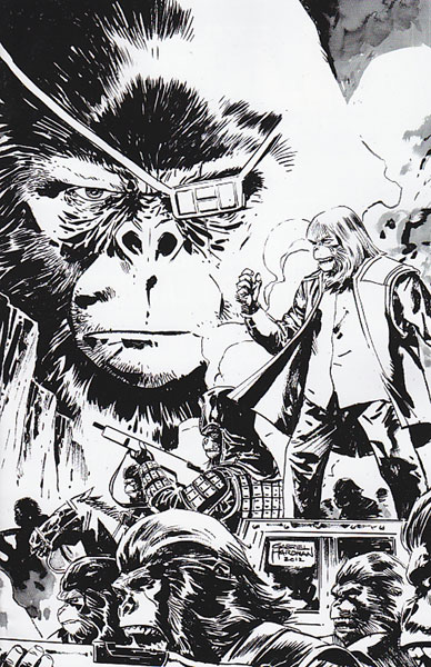 Image: Exile on the Planet of the Apes #4 (15-copy Hardman sketch incentive cover) (v15)