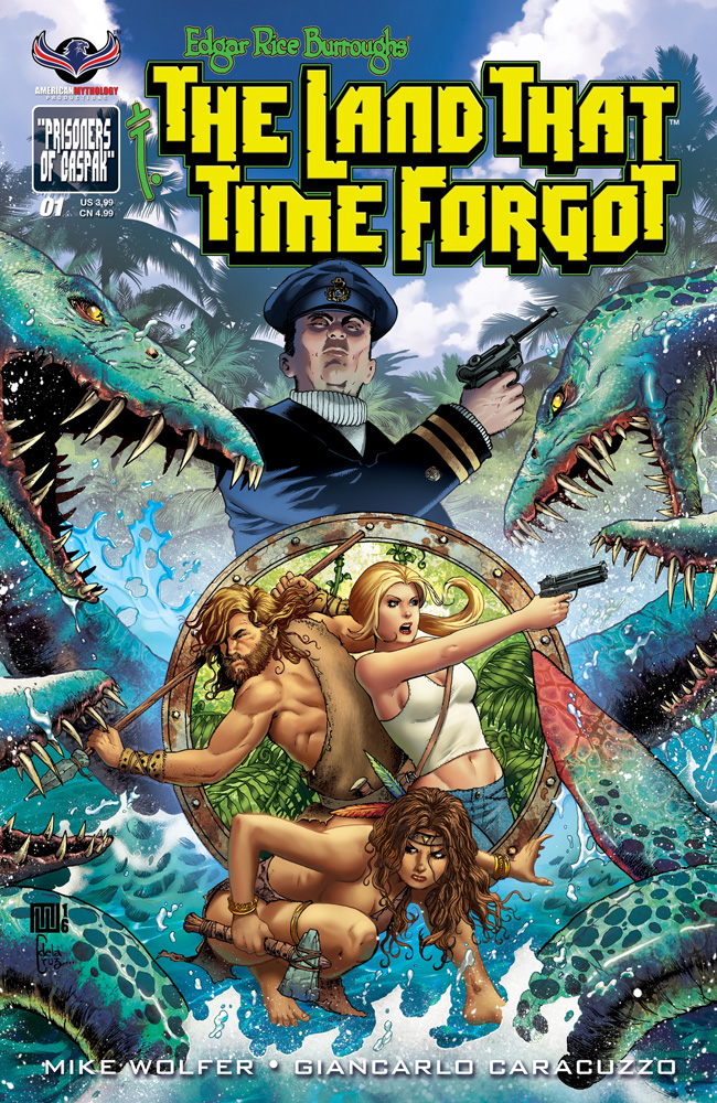 Edgar Rice Burroughs' The Land That Time Forgot #1 cover by Mike Wolfer