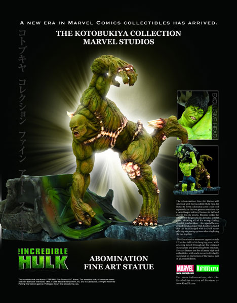 Image: The Kotobukiya Collection-Marvel Studios: The Incredible Hulk-Abomination Fine Art Statue  -