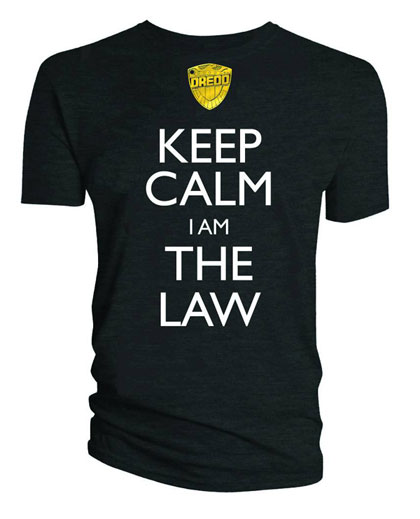 Image: Judge Dredd: Keep Calm, I Am the Law T-Shirt  (L)