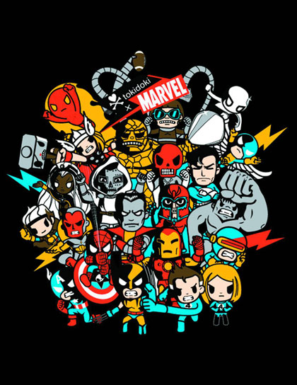 Image: Marvel x Tokidoki: Superstars Hoodie  (XL)