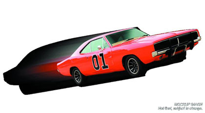 Image: Dukes of Hazzard General Lee 1/18 Die Cast Vehicle