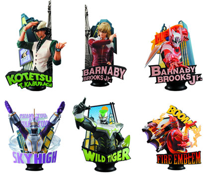 Image: Tiger & Bunny Chess Piece Collector 6-Piece Blind Mystery Box Display Vol. 1